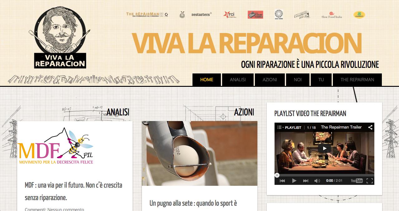 Roberto Ruzzi - Sito Web - Viva la reparacion - sito web